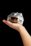 Hand holding house Royalty Free Stock Image