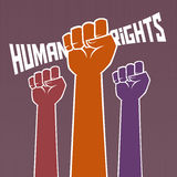 Hand Holding For Human Rights Royalty Free Stock Photos
