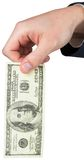 Hand holding hundred dollar bill Royalty Free Stock Photo