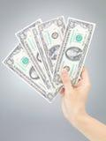 Hand holding hundred dollar bills Stock Photos