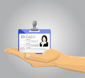 Hand holding an ID Card Royalty Free Stock Photography