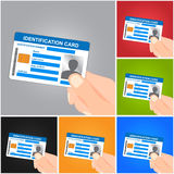 Hand Holding Identification Card Royalty Free Stock Images