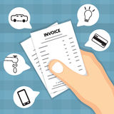 Hand holding invoice. Royalty Free Stock Images