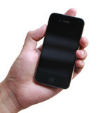 Hand holding iphone Royalty Free Stock Photography