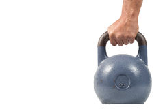 Hand holding kettlebell. Stock Photos