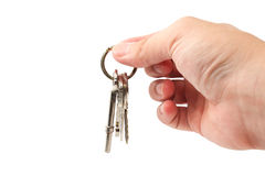 Hand holding key Royalty Free Stock Photo