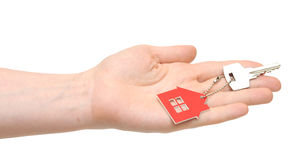 Hand holding key Stock Photos