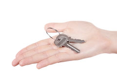 Hand holding keys Royalty Free Stock Image