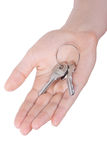 Hand holding keys Stock Photography