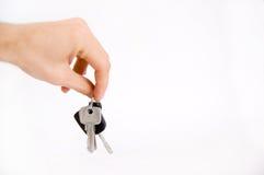 Hand holding keys. Royalty Free Stock Photography