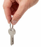 Hand holding keys Royalty Free Stock Photography