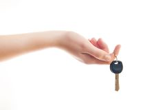 Hand holding the keys Stock Photography