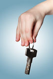 Hand holding the keys Royalty Free Stock Photo