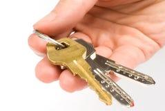 Hand holding keys Royalty Free Stock Photo