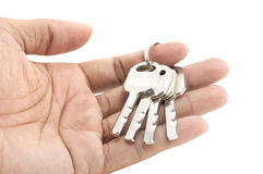 Hand holding keys Royalty Free Stock Image