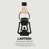 Hand Holding A Lantern Stock Images