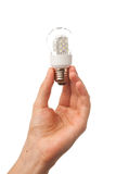 Hand holding led bulb lamp Stock Image