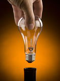 Hand Holding Light Bulb Royalty Free Stock Photo