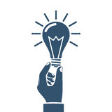 Hand holding lightbulb concept Royalty Free Stock Photo