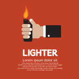 Hand Holding A Lighter. Illustrations Royalty Free Stock Photo