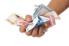 Hand holding a lot of money Royalty Free Stock Photography