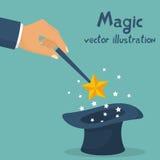 Hand holding magic wand. Stock Photography