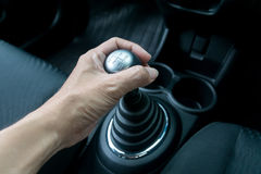Free Hand Holding Manual Transmission Royalty Free Stock Images - 72070549
