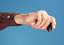 Hand holding marker Stock Photography