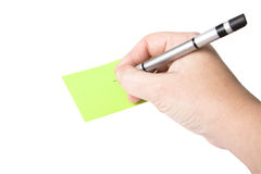 Hand holding a marker pen royalty free stock photos