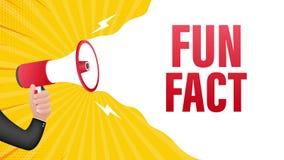 Hand holding megaphone - Fun fact. Motion graphics.