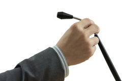 A hand holding a microphone Stock Images