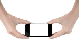 Hand holding  mobile phone Stock Image