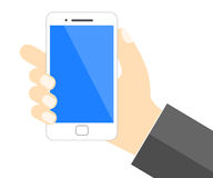Hand holding mobile phone - Vector Royalty Free Stock Photography