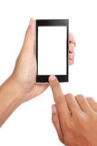 Hand holding mobile smart phone with blank screen Stock Photography