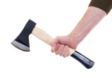 Hand holding a modern axe Royalty Free Stock Images
