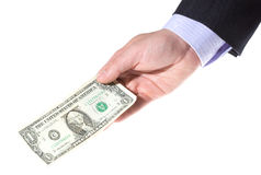Hand holding money Royalty Free Stock Photos