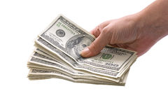 Hand holding money Stock Photography