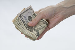 Hand holding money. Royalty Free Stock Photos