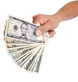 Hand Holding Money stock photos