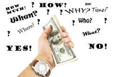 Hand holding money Royalty Free Stock Image