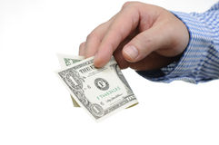 Hand holding money Royalty Free Stock Photo