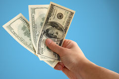 Hand holding money Royalty Free Stock Photos