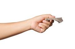 Free Hand Holding Money Isolate On White Royalty Free Stock Photos - 99283358