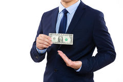 Hand holding money Royalty Free Stock Images