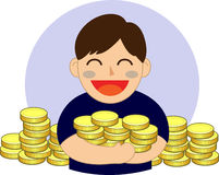 Hand holding money. Vector illustration Stock Photo