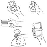 Hand holding money Stock Images