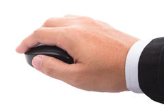 Hand holding mouse Stock Photo