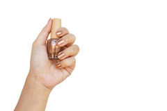 Hand holding nail polisher Royalty Free Stock Images