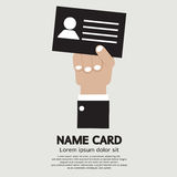 Hand Holding Name Card Stock Image