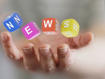 Hand holding news Royalty Free Stock Photos